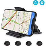 Car Phone Holder, Maxcio Non-Slip Dashboard Stand Universal Car Cradle with adjustable angle and 4 Cable Clip Holders for Safe Driving, for ISO