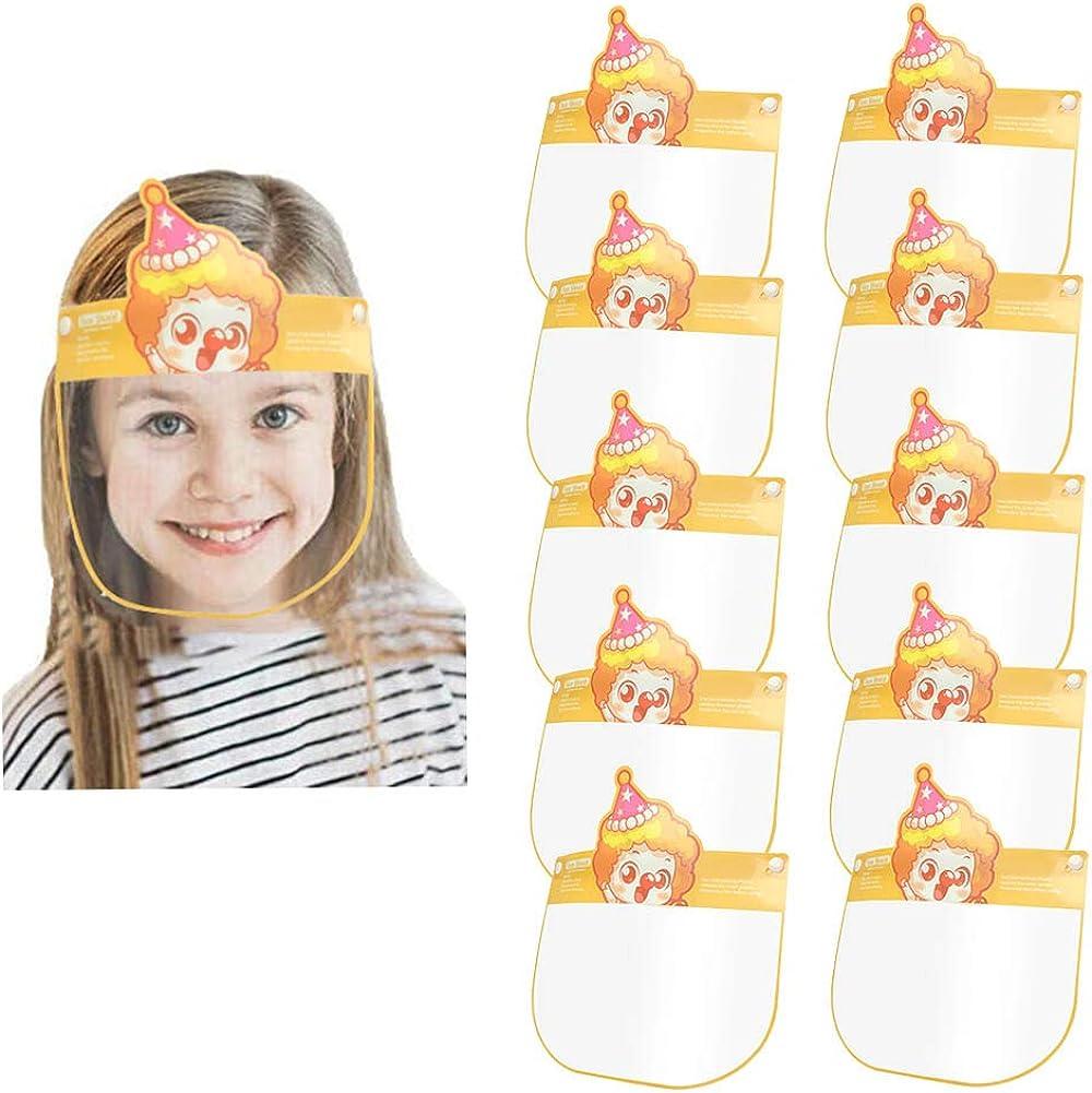 Happy Cherry 10 PEZZI Visiera per bambini con elastico regolabile