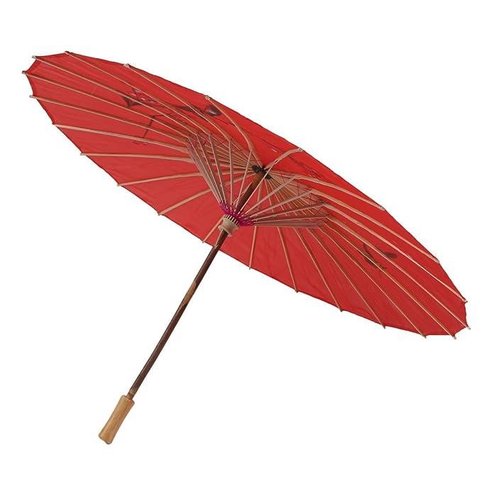 Amazon.com: eDealMax patrón de Flor de Baile Sombra Sombrilla Sun Estilo Retro del arte que cuelga del paraguas 54cm de Largo Rojo: Home & Kitchen
