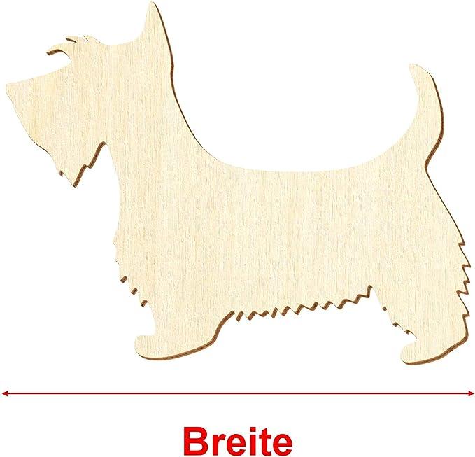Holz Scottish Terrier Deko Basteln 3-50cm