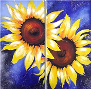 Amazon Com Van Gogh Sunflowers Wall Art On Quality Canvas