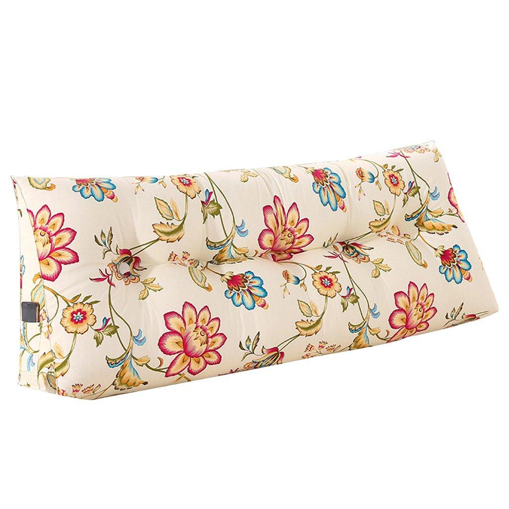 抱き枕 クッションダブルベッドソフトケースベージュトライアングルバックピロー洗える腰のピローブルーPPコットン耐久性と耐久性 (Size : 150 * 50 * 20cm) B07FLLNVJP  150*50*20cm