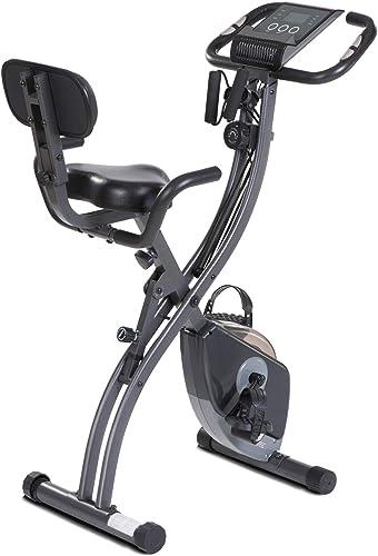 MaxKare Exercise Bike Stationary Bike Folding Recumbent Exercise Bike Upright Indoor Cycling Bike Belt Drive