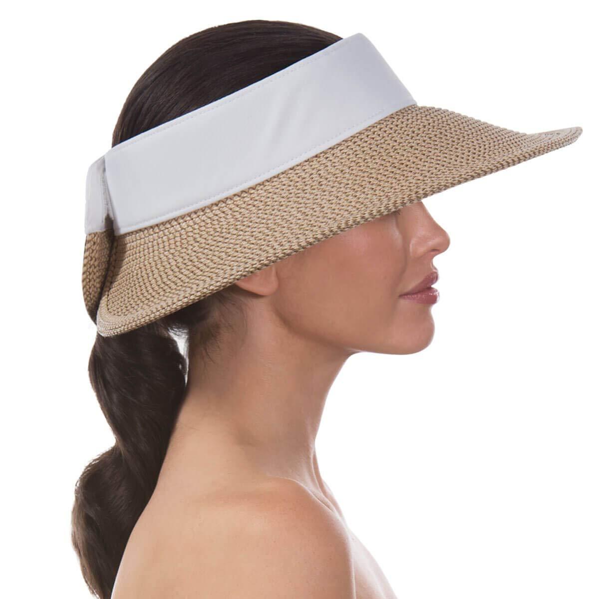 Eric Javits Luxury Women's Designer Headwear Hat - Squishee Halo - Peanut/White by Eric Javits (Image #4)