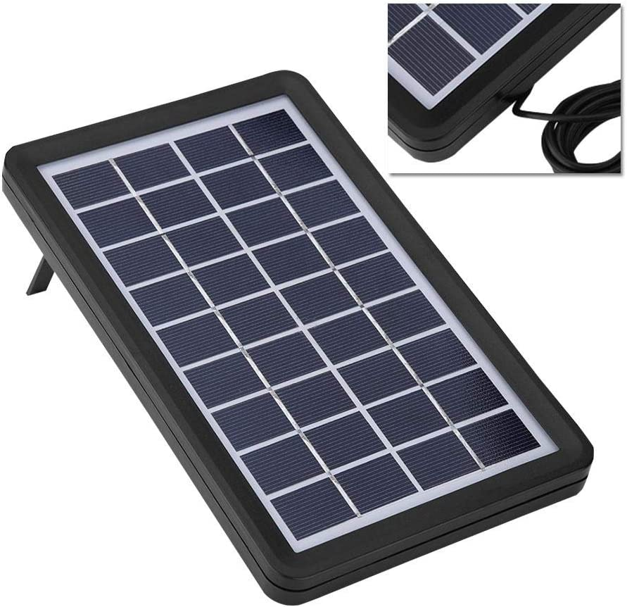 9V 3W Solar Board Shell 93/% Light Transmittance 18/% High Conversion Rate Waterproof Poly Silicon Multi-level Protection Solar Cell Cover Goshyda Solar Panel
