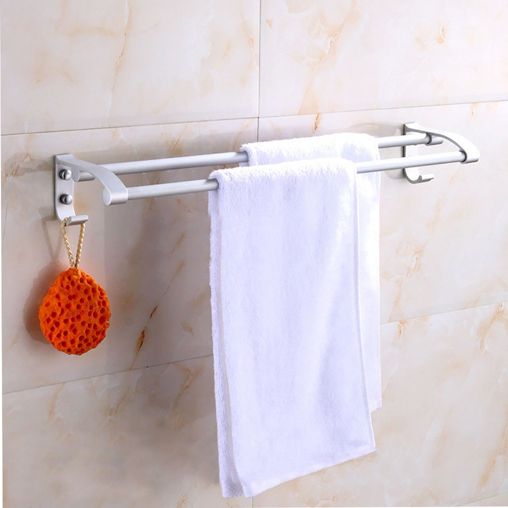 Behavetw Bathroom Modern Double Towel Bar Rack - Stainless Steel Storage Rail, Water and Rust Proof, Bathroom Wall Mounted Organizer