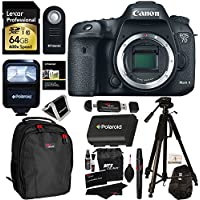 Canon EOS 7D Mark II Digital SLR Camera (Body) + Lexar 64GB 600x SDXC Card + Polaroid 72 Inch Tripod + Polaroid LP-E6 Battery + Polaroid Slave Flash + Professional DSLR Case + Deluxe Polaroid Accessory Kit Review Review Image