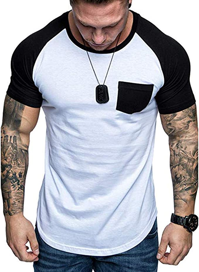 F/_Gotal Mens T-Shirts Fashion Summer Short Sleeve Big/&Tall Fashion Printed Muscle Casual Blouse Tops Shirt for Men