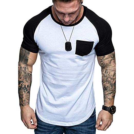057ad485ce4c25 Kirbaez Fashion Personality Mens Summer Solid Casual O-Neck Slim Sleeveless  T Shirt Top Blouse Jeans Men