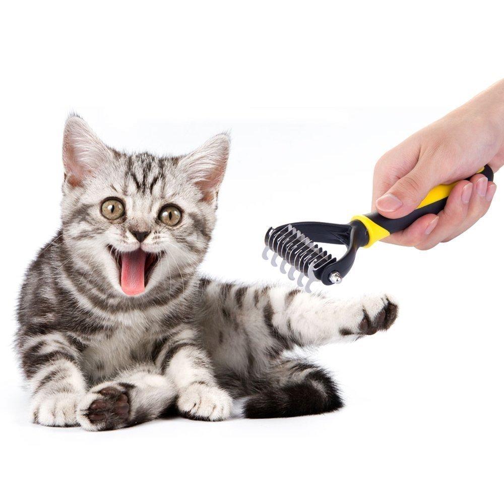 Blue Dematting Tool 11 Teeth Wide MIU COLOR/® Professional Pet Grooming Undercoat Rake Comb