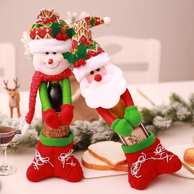 ZHRUI Calendario de Pared de Navidad, Calendario de Old Hairy Man + Calendario de Cuenta Regresiva + Colgante para decoración del hogar + Colgante de ...