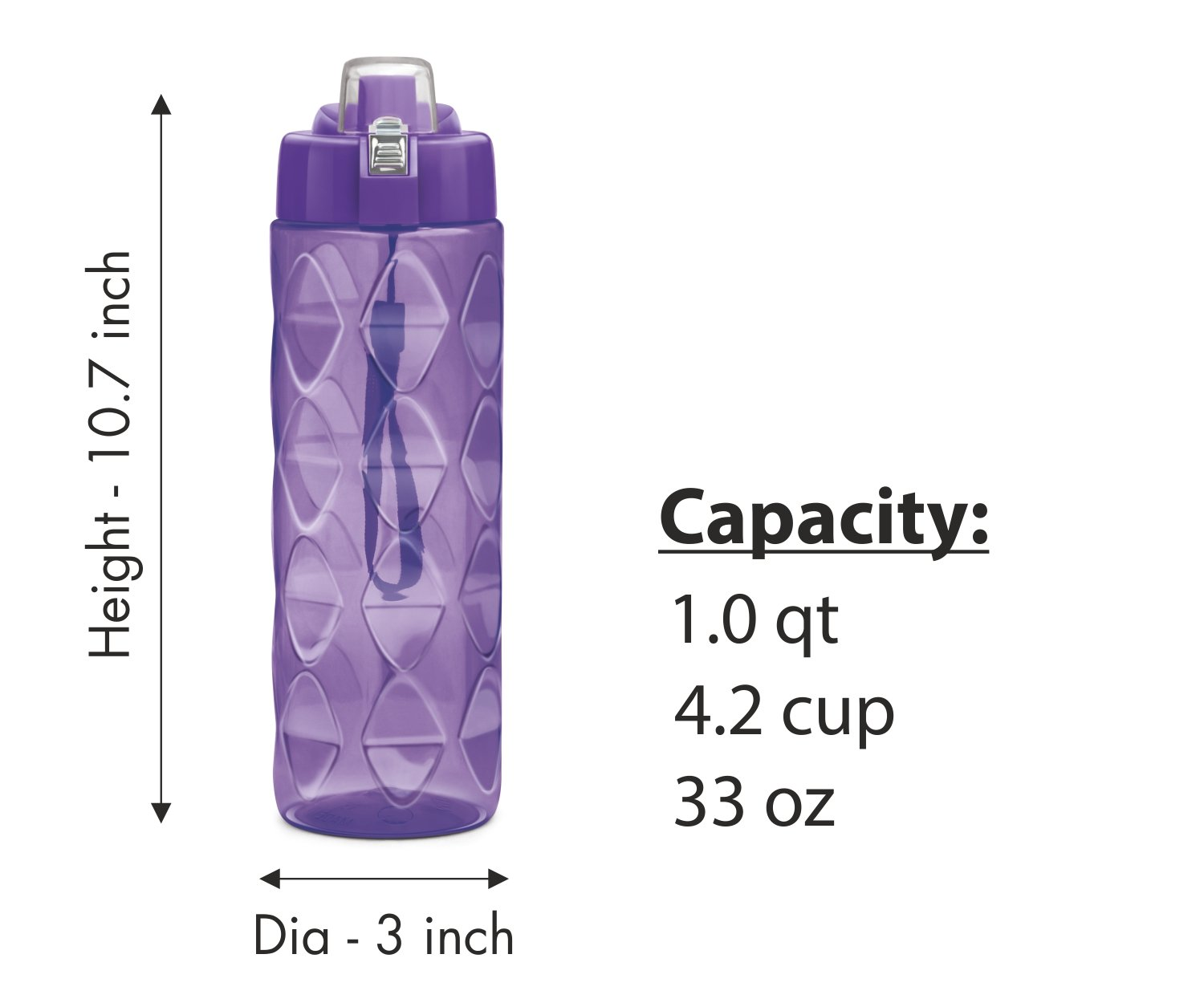 Sports Water bottle 3 pack 35 oz Large water bottle for Adults-Leakproof BPA-Free Wide-Mouth w//Strap Carry Handles For Men /& Women Cycling Camping Gym Hiking Yoga Fitness Milton