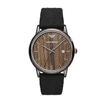Amazon.com: Emporio Armani Mens Luigi Quartz Stainless Steel and Cloth Dress Watch, Color:Black (Model: AR11156): Emporio Armani: Watches