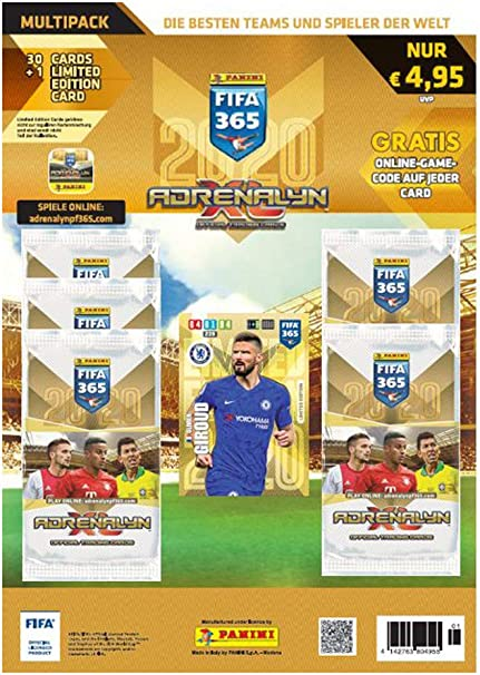 Panini Adrenalyn XL FIFA 365 2019 Premium 3 x Booster Limited Edition