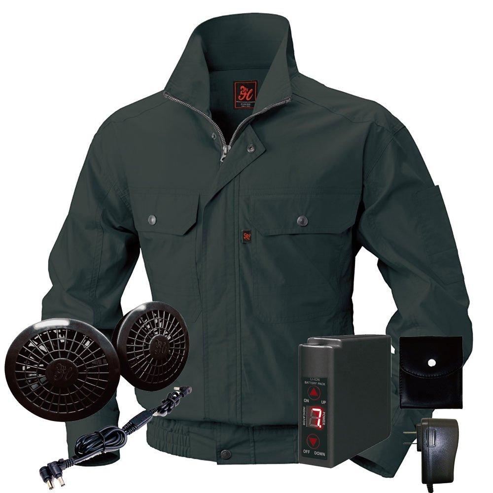 空調服快適ウェア ブルゾンバッテリーセット V722202set B071G9NTNX L 73チャコール 73チャコール L