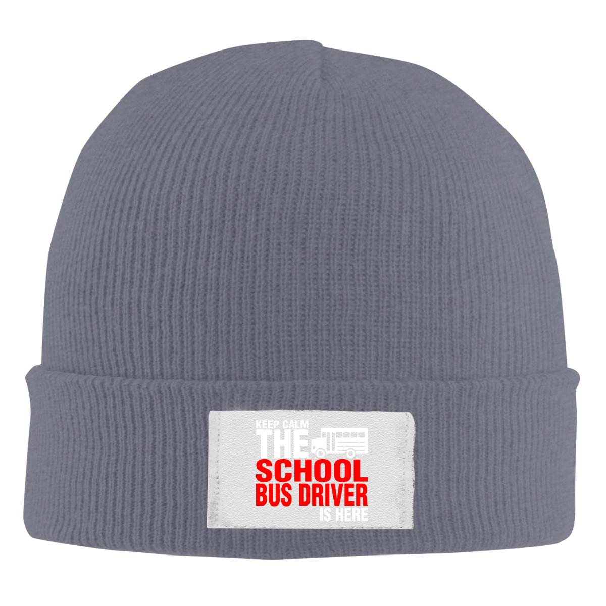 Skull Caps School Bus Driver is Here Winter Warm Knit Hats Stretchy Cuff Beanie Hat Black