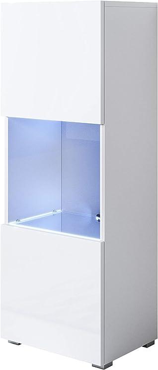 muebles bonitos Armario Modelo Luke V3 (40x128cm) Color Blanco con Patas estandar: Amazon.es: Hogar