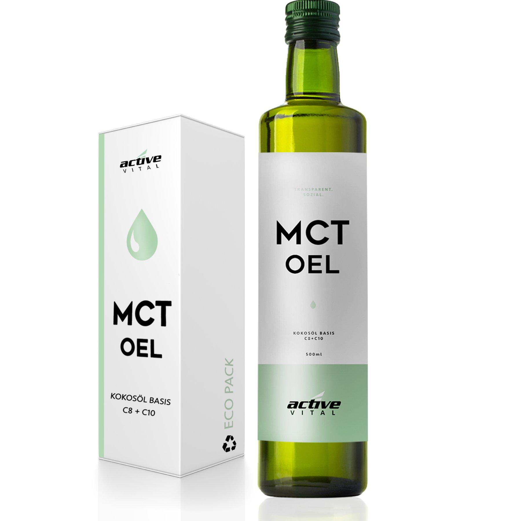 MCT-Öl | ACTIVEVITAL | 500ml Neutral aus Kokos-Öl | Bulletproof Coffee | Keto | Caprylsäure (C-8) und Caprinsäure (C-10) | Vegan product image