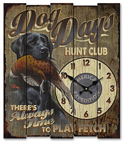 American Expedition Wooden Clock – Dog Days Hunt Club Black Lab