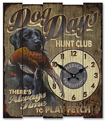 American Expedition Wooden Clock – Dog Days Hunt Club Black Lab