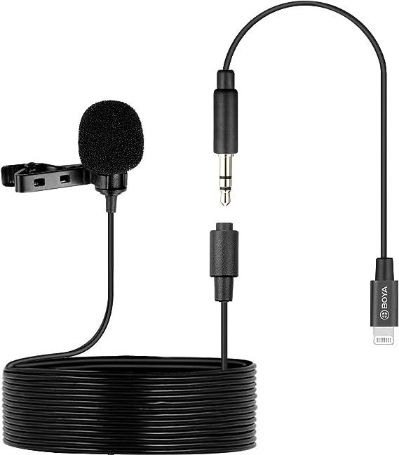 Boya By M2 Clip On Lavalier Mikrofon Mfi Zertifizierter Lightning Port Für Ios Geräte Telefon Tablet Aufnahme Vlog Making Broadcasting Musikinstrumente