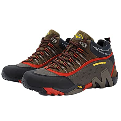 nihiug Scarpe da Trekking da Uomo High-Top Explorer Sneakers Antiurto di Grandi Dimensioni Outdoor Antiscivolo Impermeabile Traspirante