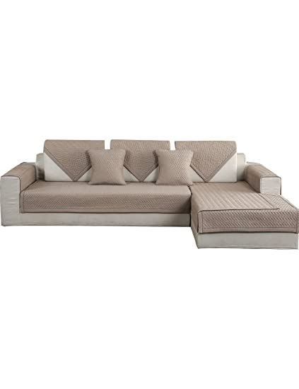 sectional sofa covers. FORCHEER Sofa Mats Cotton Non-slip Cover Shield Quilted Sectional Cushion Slip Covers