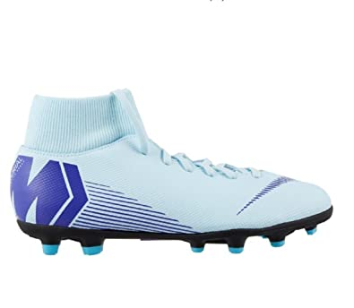 buy popular 0db40 fe3ca Amazon.com | Nike Mercurial Superfly 6 Club MG (Glacier Blue ...