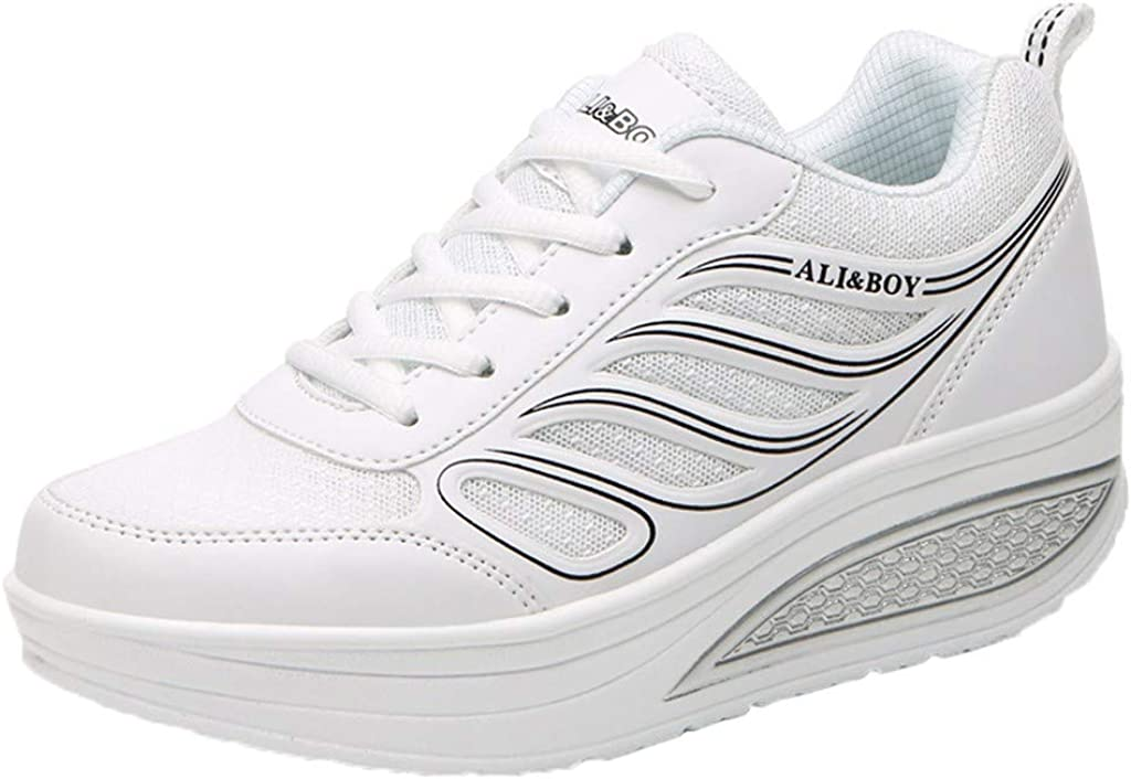 ZARLLE Zapatillas De Deporte Zapatos Respirado Ligero Malla Mujeres Running Zapatillas Sacudir Casual Zapatos Height-Increasing Sneaker,Calzado Casuales de Interior de Mujer: Amazon.es: Ropa y accesorios