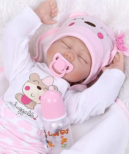 """11/"""" Reborn Dolls Girl Realistic Vinyl Silicone Baby Bath Newborn Birth Gift US"""