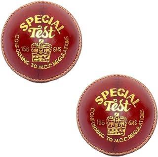 WCC CW Special test scuola grado A prova di protezione professionale in pelle rossa palle da cricket per ragazzi 155,9gram in confezione da 2 9gram in confezione da 2 Cricket World