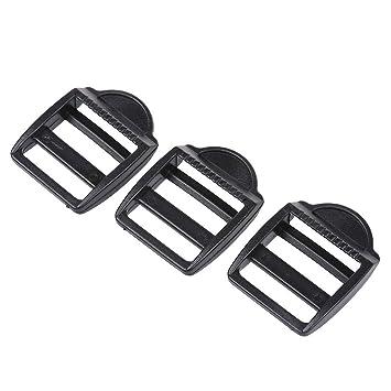sourcingmap® Hebilla lateral de color negro de plástico 3 pcs para mochila maleta: Amazon.es: Equipaje