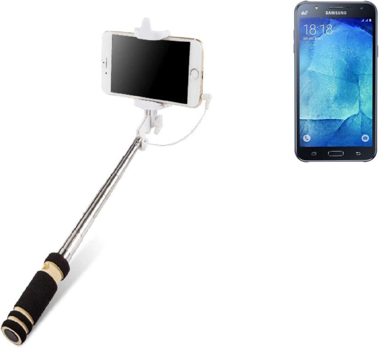 K-S-Trade Selfie Stick Palillo para Samsung Galaxy J7, Negro ...