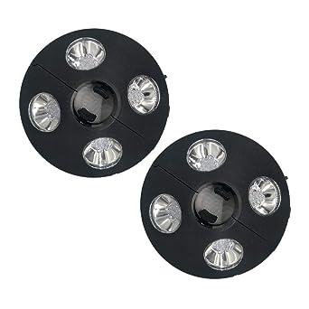 Uonlytech - 2 luces de paraguas con 24 luces LED, 3 modos de ...