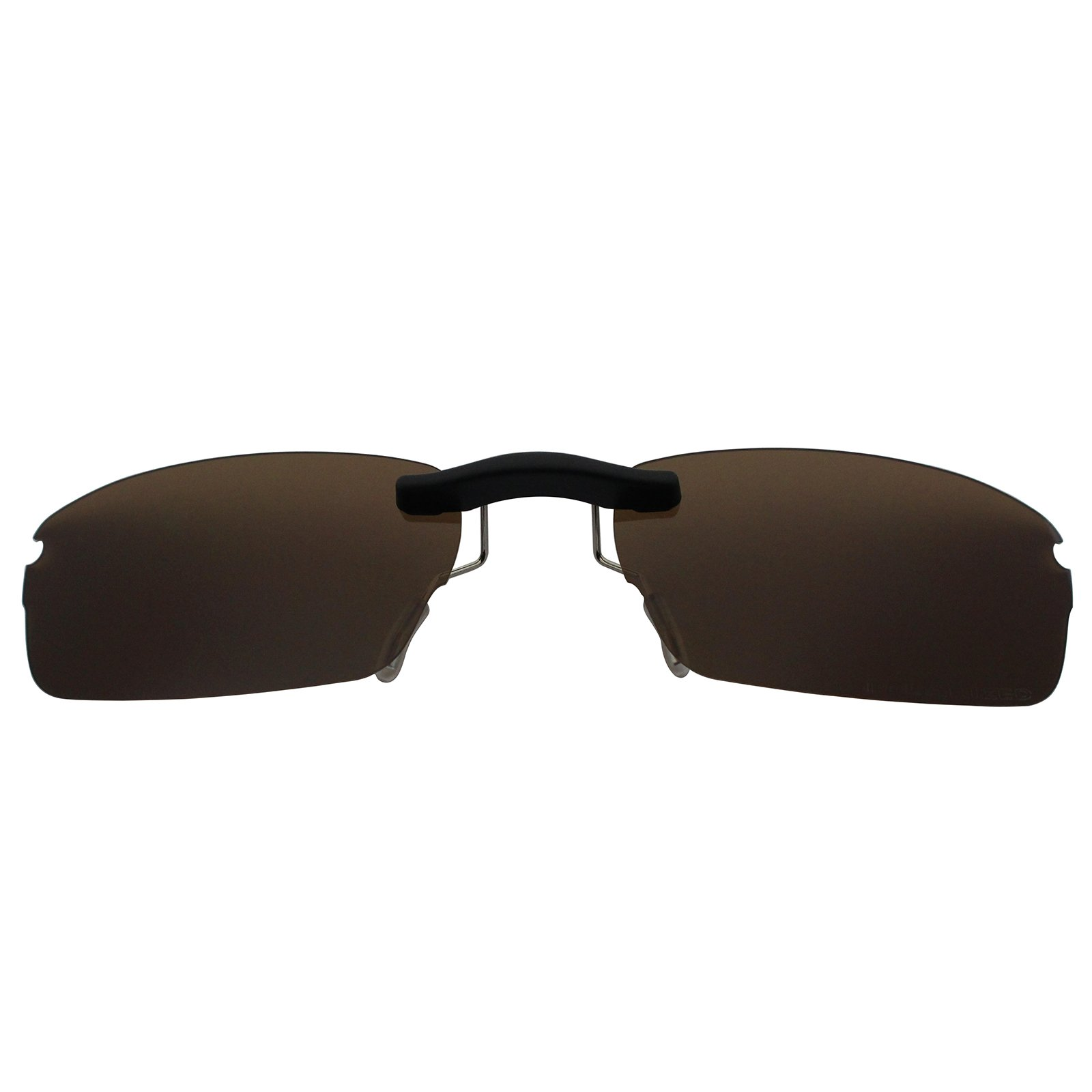 Custom Polarized Clip On Sunglasses for Oakley Rhinochaser OX3111 52X19(No Frame) Brown