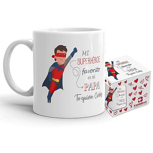 Taza de desayuno Mi superhéroe favorito es mi papá