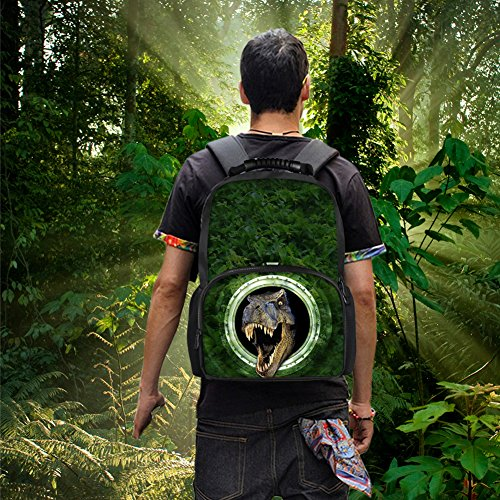 CHAQLIN Cool Kids School Bags 3D Animal Wild Pattern Boys Felt Backpacks