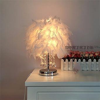YU-K Elegante decoración del hogar Ideas lámpara de mesa cálida ...