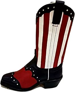 product image for Abilene Patriotic Leather Ladies Boots Size
