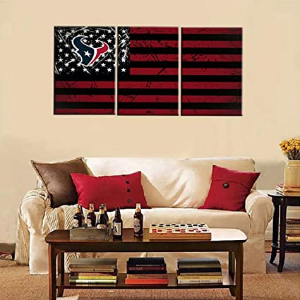 Amazon Com Native America Canvas Wall Art Houston Texans Logo And
