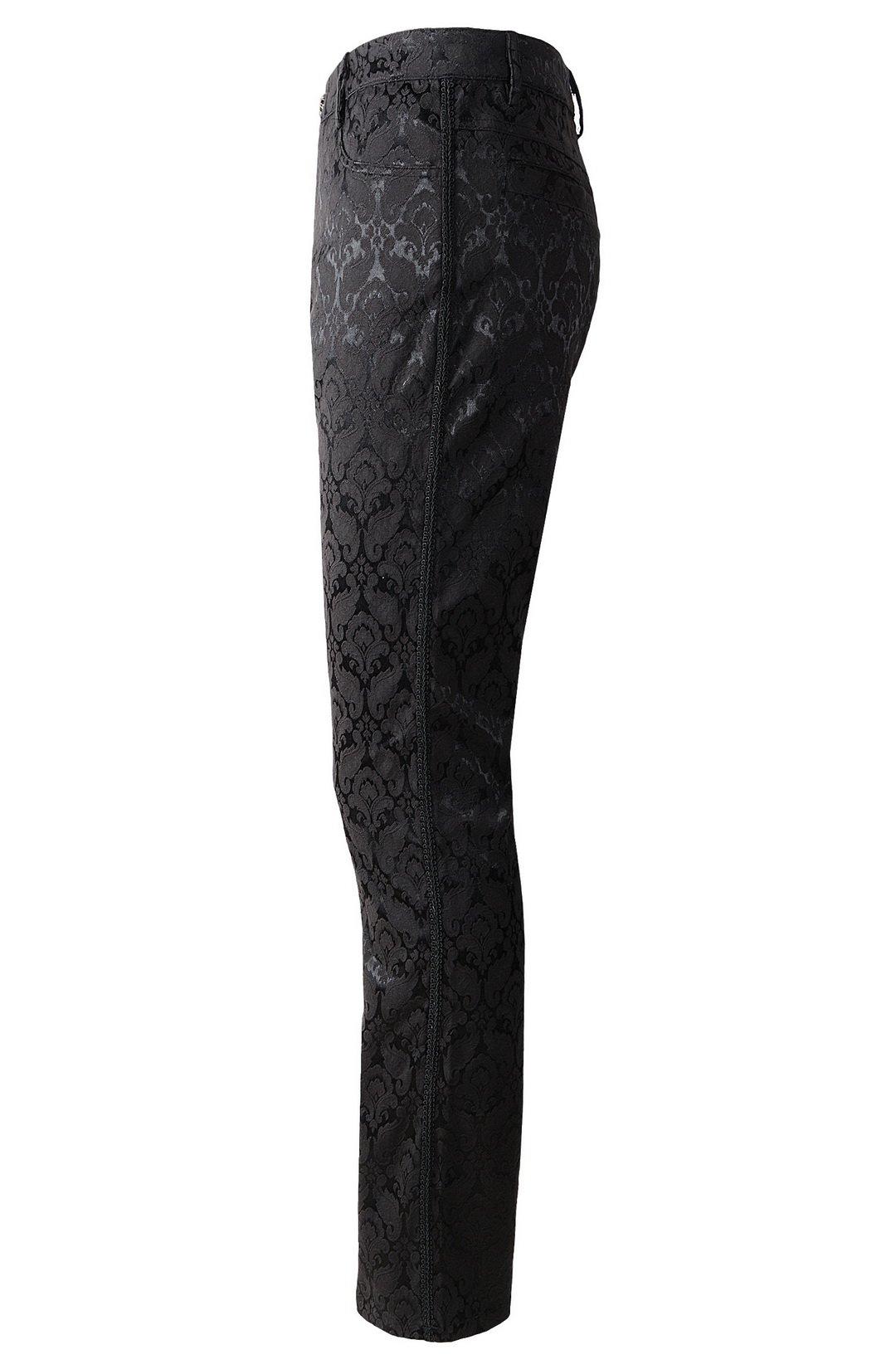 DarcChic Mens Trousers Pants Brocade VTG Gothic Aristocrat Steampunk Side Braiding Trim 4