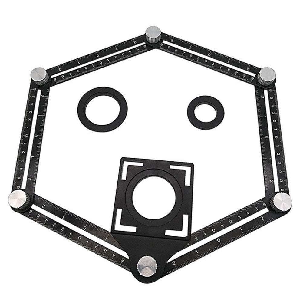 YaptheS Aluminium Pratique Rè gle Multi-Angle Multifonction en Alliage Angleizer Six modè le de Page Outil Robuste MagicAngle modè les Outils de Jardinage rè gle