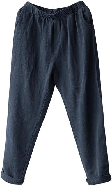 Ovinee Pantalones Mujer Tallas Grandes De Lino Pantalones Harlan De Sueltos Damas Ocasionales Amazon Es Ropa Y Accesorios