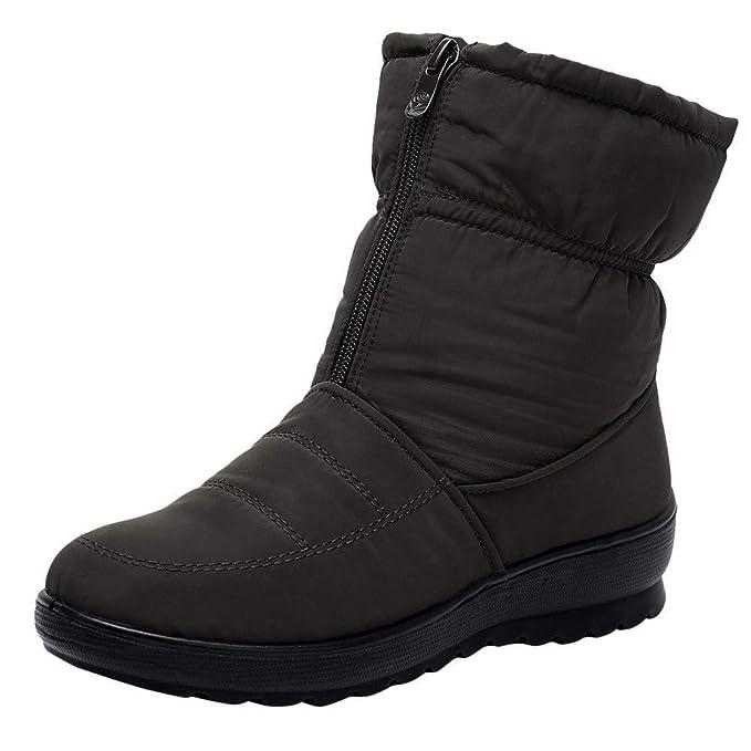 ZARLLE_ Hombre Zapatillas Botas de Nieve para Mujer,Invierno ...