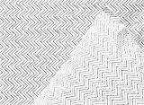 Thread Experiment Clean Chevron Sheet Set for Men, Black / Grey / White, Queen