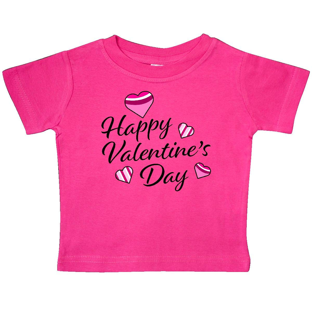 inktastic Happy Valentines Day with Colorful Hearts Baby T-Shirt