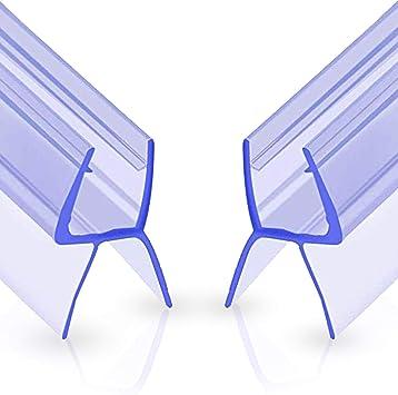 Oladwolf Ducha Pantalla Sello, 2PCS Junta Repuesto Para el Vidrio para 6mm / 7mm / 8mm De Puerta de Cristal Curvado/Recto, 100cm Mampara de Ducha No Se Requiere Pegamento: Amazon.es: Bricolaje y