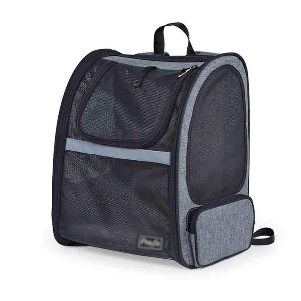 Pet Go Out Backpack Cat Expansion Pack Portable Pet Bag Dog Backpack Breathable Bag 33×27×44cm Black
