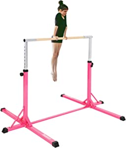 FBSPORT Gymnastics Trainning Kip Bar Expandable Horizontal Bar Adjustable Height Fitness Equipment for Home/Floor/Practice/Gymnastics/Training/Parkour