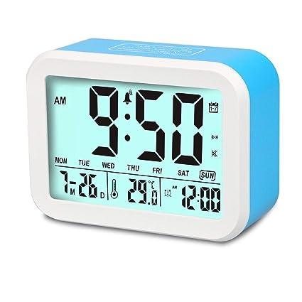 Reloj despertador, aitey hablando reloj digital con 3 alarmas, opcional, Noctilucent inteligente y